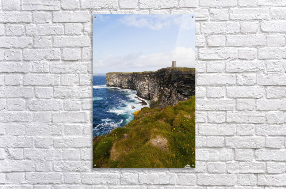 Marwick Head RSPB Nature Reserve, Kitcheners Monument; Orkney, Scotland  Acrylic Print