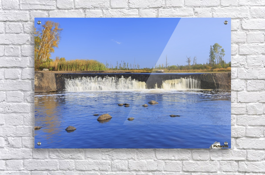 Rainbow Falls on the Whiteshell River in autumn, Whiteshell Provincial Park; Manitoba, Canada  Acrylic Print