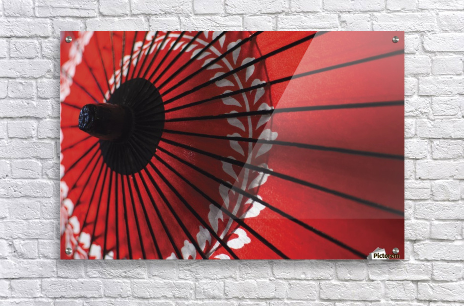 Japanese red umbrella; Kyoto, Japan  Acrylic Print
