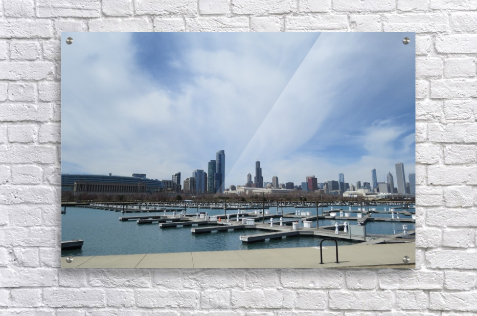 View of Burnham Harbor from Northerly Island  VP4  Acrylic Print