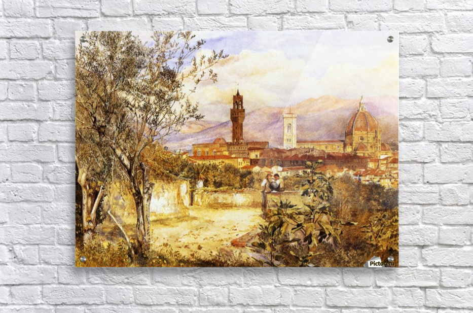 View of the Duomo fro the Mozzi Garden Florence 1877  Acrylic Print