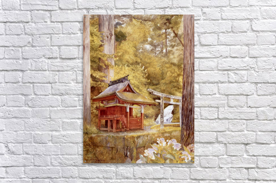 Japanese Pagoda In The Woods  Acrylic Print