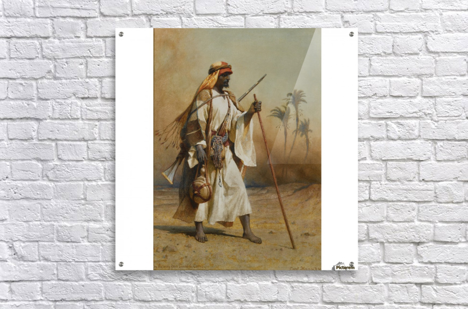 A warrior scouring the land  Acrylic Print