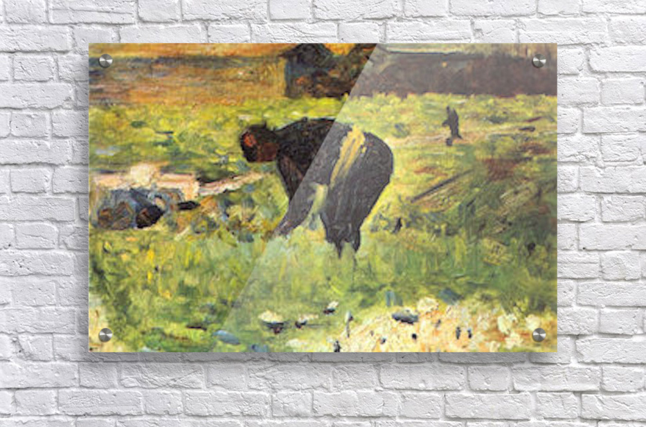 Farmer at work by Seurat  Acrylic Print