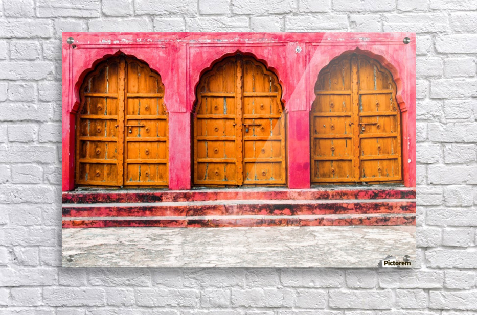 Doors of the Pink City   Acrylic Print