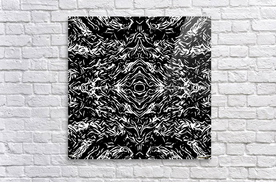 Acrylic print acrylic print psychedelic graffiti symmetry art abstract in black and white