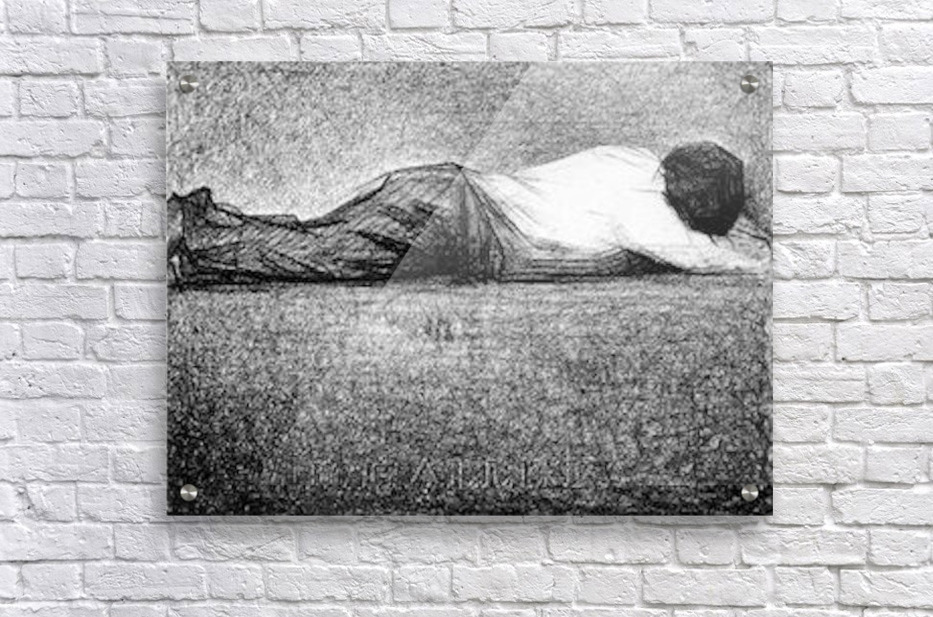Man sleeping by Seurat  Acrylic Print