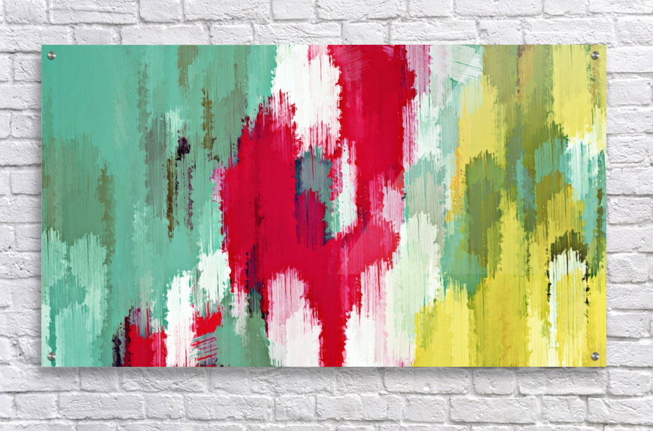 red green and yellow painting texture abstract background  Acrylic Print