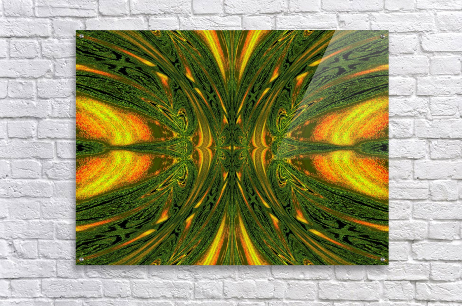 Green Mystical Butterfly 1  Acrylic Print
