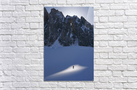 Mountaineer Pauses In Sunspot On Glacier To View Scenery, Kichatna Mtns, Denali National Park, Ak.  Acrylic Print