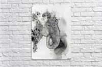 Illustration of an elephant's head  Acrylic Print