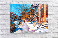MONTREAL STREET IN WINTER  Acrylic Print
