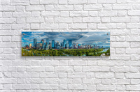 Calgary Downtown Four Bridges Blue  Acrylic Print