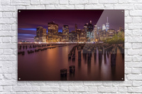 Manhattan Skyline at Sunset  Acrylic Print