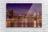 BROOKLYN BRIDGE Sunset  Acrylic Print