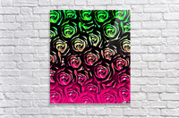 rose pattern texture abstract background in pink and green  Acrylic Print