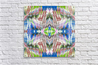 geometric symmetry pattern abstract background in pink blue green brown  Acrylic Print