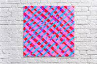geometric pixel square pattern abstract background in pink blue red  Acrylic Print