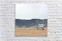 Lonely Lifeguard Tower at Beach  Acrylic Print