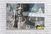 African Statue in Window  Acrylic Print