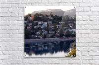 Silver Lake Reservoir with Griffith Observatory  Acrylic Print