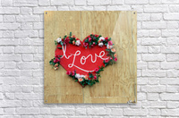 I love Heart - Square Canvas Print  Acrylic Print