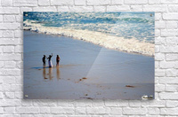 3 girls on California beach  Acrylic Print