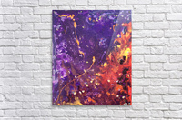 The Flow Purple and Orange Abstract  Acrylic Print