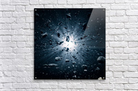 Big Bang explosion in space  Acrylic Print