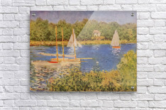 The Seine at Argenteuil Basin by Monet  Acrylic Print
