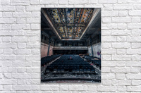 Decaying Blue Auditorium  Acrylic Print