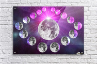 Multi-phase Moonlight  Acrylic Print