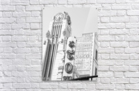 B&W Tower Theatre Clock - DTLA  Acrylic Print