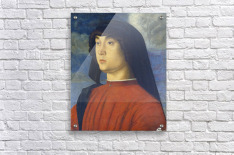 Giovanni Bellini Portrait Young Man Red  Acrylic Print