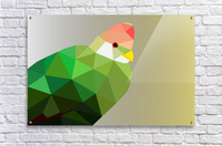 RED CRESTED TURACO LOW POLY ART  Acrylic Print
