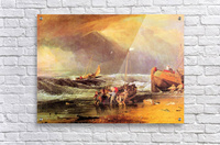Coastal scene with fishermen by Joseph Mallord Turner  Acrylic Print