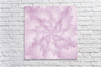 Pink Snowflakes Forest  Acrylic Print