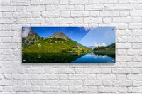 Mountain cottage at the Zelene pleso  Acrylic Print