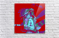 Indian Chief Pop Art  Acrylic Print
