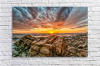 Rocks and Sunset  Acrylic Print