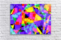 geometric triangle abstract background in purple blue pink yellow  Acrylic Print