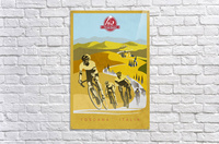 retro Strade Bianche cycling poster  Acrylic Print