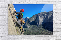 Climber on El Capitan  Acrylic Print