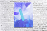 brush painting texture abstract background in blue  Acrylic Print