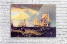Recovering an anchor by Joseph Mallord Turner  Acrylic Print
