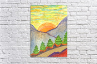 Winter solstice. Road to the mountains  Acrylic Print