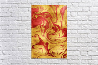 Red Dragon Marble  Acrylic Print