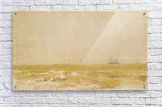 Seascape with Schooner by Whistler  Acrylic Print