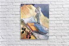 Still Life with torso, a rose and two novels by Van Gogh  Acrylic Print