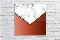 ABSTRACT BRICK MODERN MARBLE  Acrylic Print